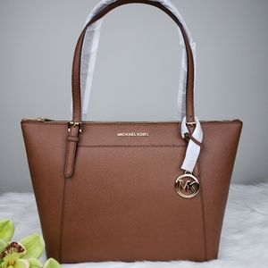🌺NWT Michael Kors LG Ciara Tote bag luggage brown